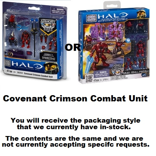 Halo Mega Bloks Crimson Covenant Combat Unit officially licensed Halo Mega Bloks product at B.A. Toys.