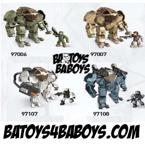 Halo Mega Bloks BAToys Cyclops Assortment officially licensed Halo Mega Bloks product at B.A. Toys.