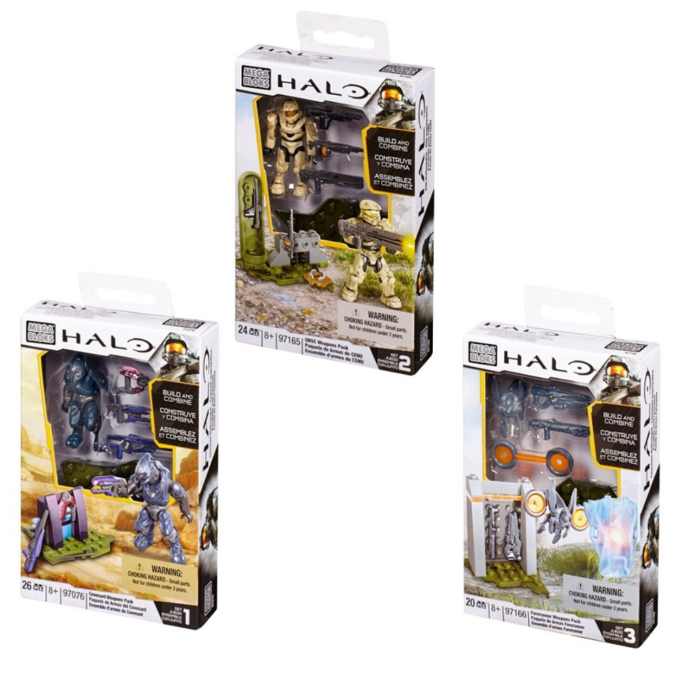 Halo Mega Bloks BAToys Pack Assortment officially licensed Halo Mega Bloks product at B.A. Toys.
