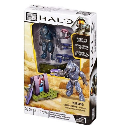 Halo Mega Bloks Covenant Weapons Pack officially licensed Halo Mega Bloks product at B.A. Toys.