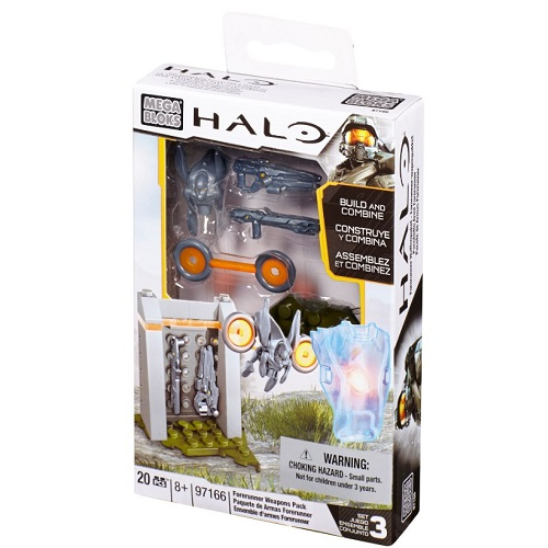 Halo Mega Bloks Forerunner Weapons Pack officially licensed Halo Mega Bloks product at B.A. Toys.
