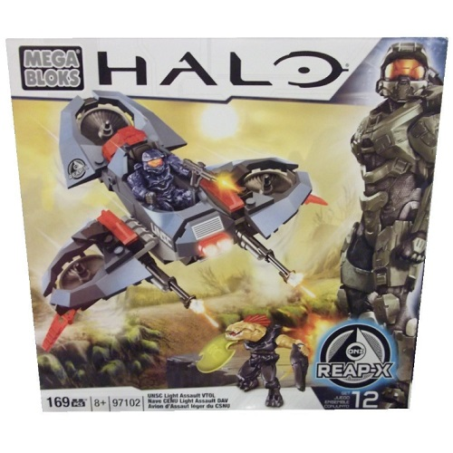 Halo Mega Bloks ONI Light Assault VTOL officially licensed Halo Mega Bloks product at B.A. Toys.