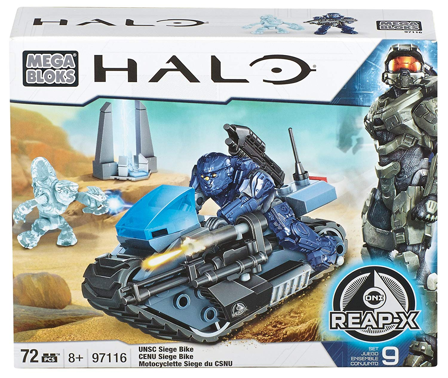 Halo Mega Bloks UNSC Siege Bike officially licensed Halo Mega Bloks product at B.A. Toys.