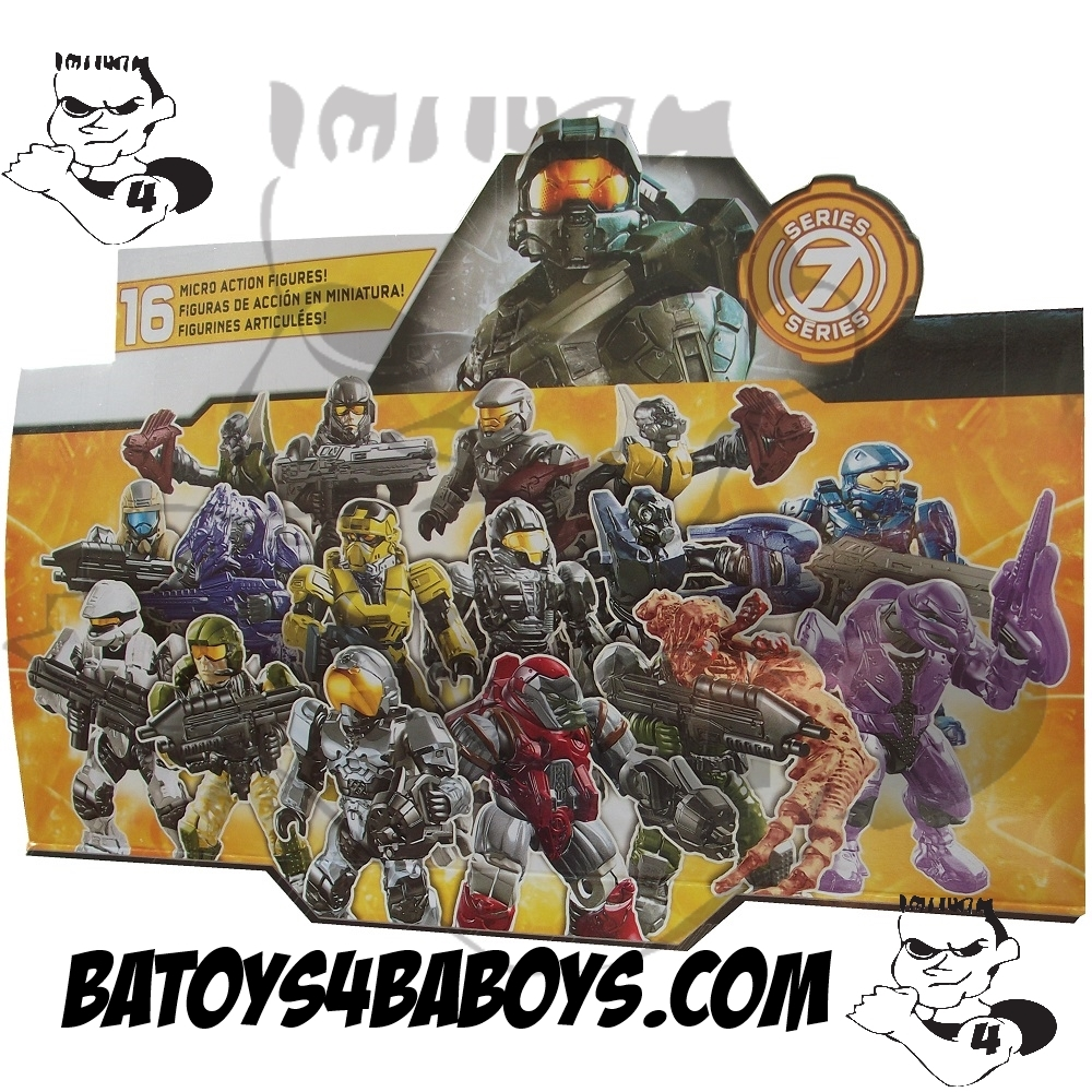 Mega Bloks Halo Series 7 Factory Sealed Case of 24 M.A.F. officially licensed Mega Bloks Halo product at B.A. Toys.
