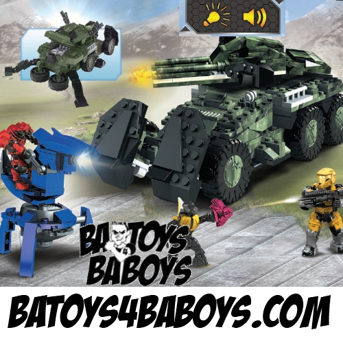 Halo Mega Bloks UNSC Anti-Armor Cobra [Lights & Sounds] officially licensed Halo Mega Bloks product at B.A. Toys.
