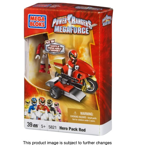 Mega Bloks Power Rangers MegaForce PRMF Red Ranger Hero Racer officially licensed Mega Bloks Power Rangers MegaForce product at B.A. Toys.