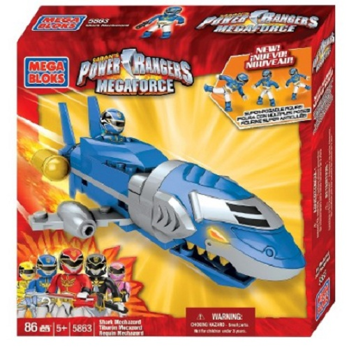 Mega Bloks Power Rangers MegaForce PRMF Shark Mechazord officially licensed Mega Bloks Power Rangers MegaForce product at B.A. Toys.
