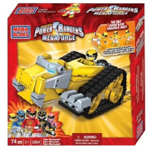 Mega Bloks Power Rangers MegaForce PRMF Tiger Mechazord officially licensed Mega Bloks Power Rangers MegaForce product at B.A. Toys.