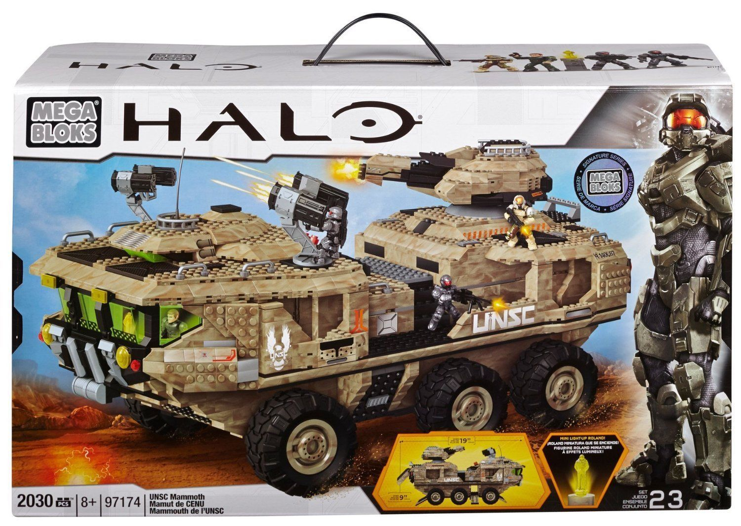 UNSC Mammoth officially licensed Mega Bloks Halo product at B.A. Toys.