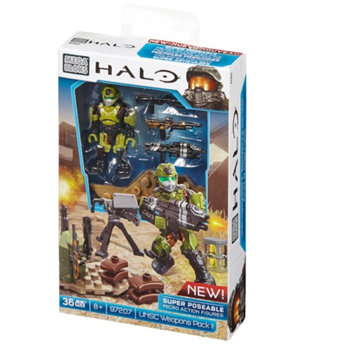 Quantity of 30 - 2014 Halo Mega Bloks UNSC Weapons Pack II [Wave 2 Super-Poseable Figure] officially licensed Mega Bloks Halo product at B.A. Toys.