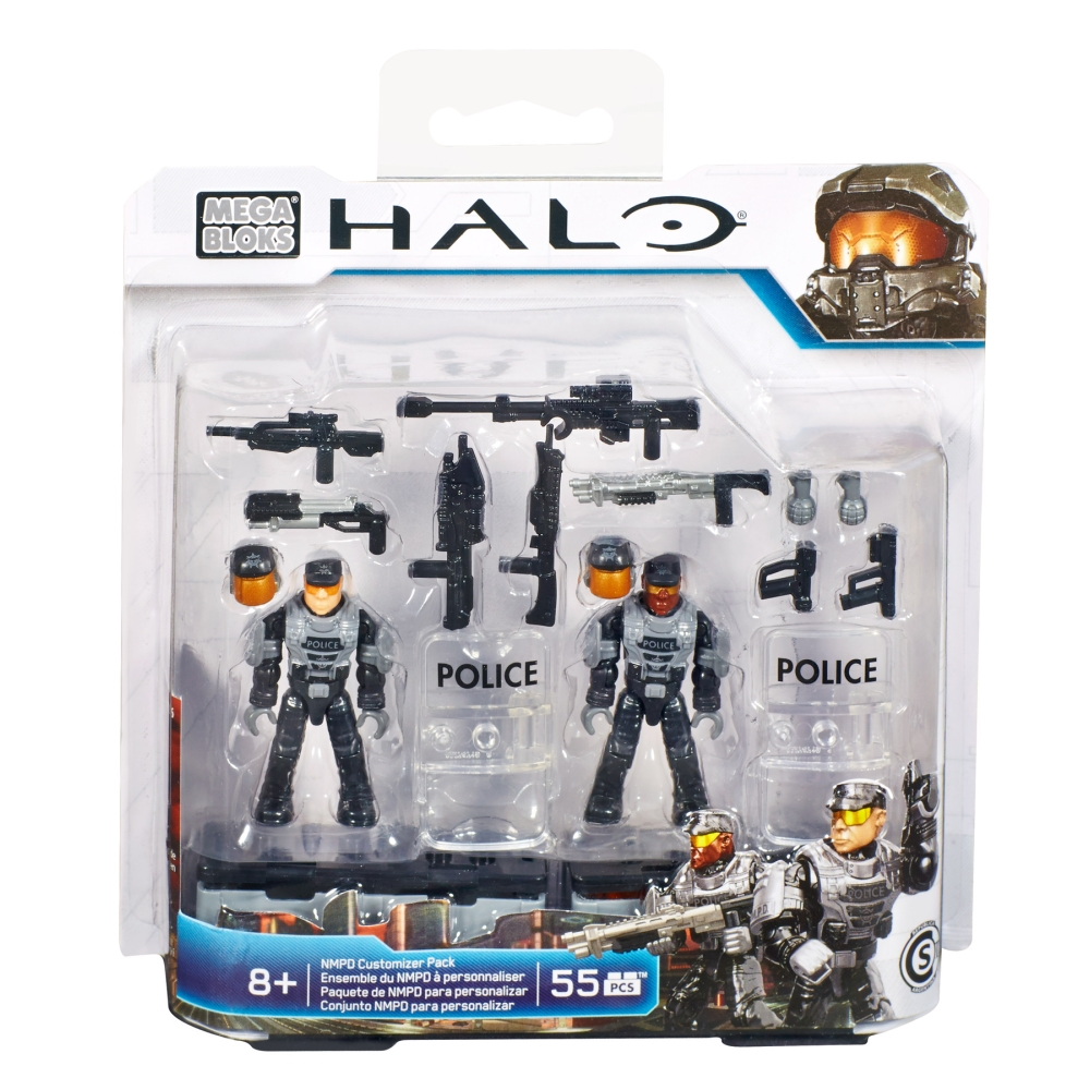 2015 Halo Mega Bloks <b>NMPD Customizer Pack</b> officially licensed Mega Bloks Halo product at B.A. Toys.