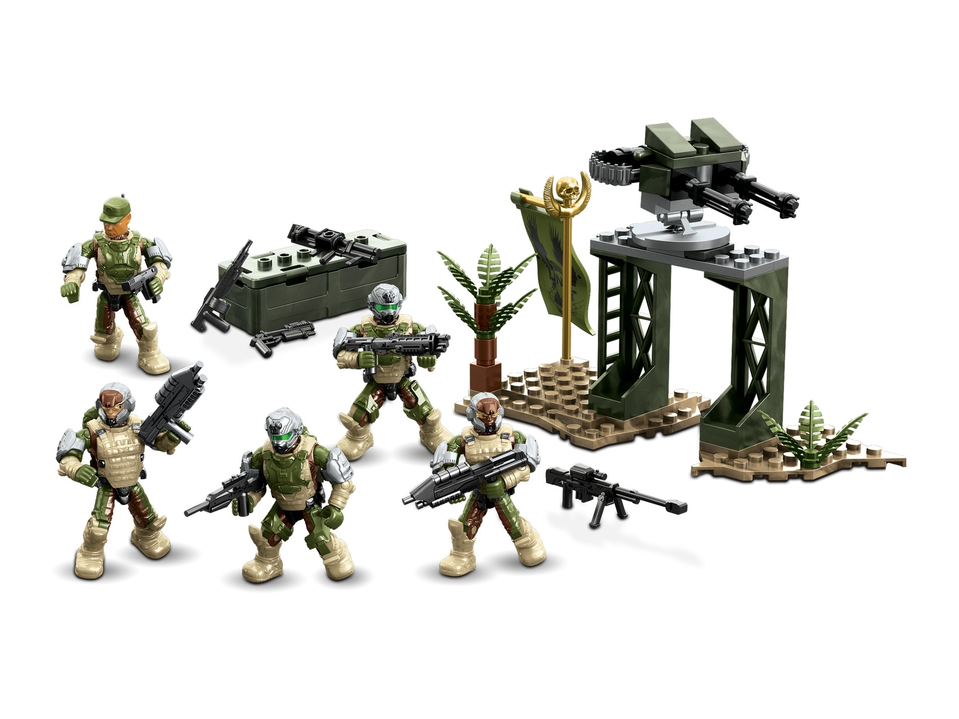 2015 Halo Mega Bloks UNSC [Fireteam] SIERRA SQUAD [Combat Unit] officially licensed Mega Bloks Halo product at B.A. Toys.