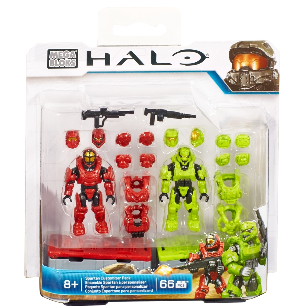 2015 Halo Mega Bloks <b>Spartan Customizer Pack</b> officially licensed Mega Bloks Halo product at B.A. Toys.
