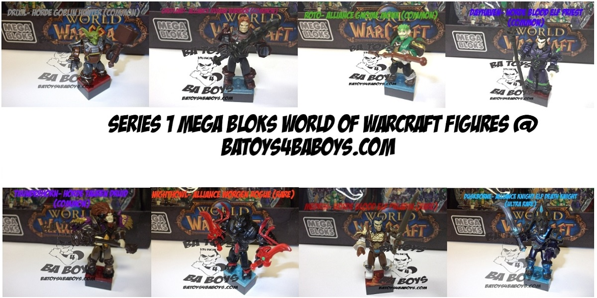Mega Bloks Warcraft Series One Minfigure SET of 8 is an officially licensed, authentic Mega Bloks Warcraft product at B.A. Toys featuring Series One Minfigure SET of 8 by Mega Bloks Warcraft