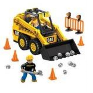 Cat Mega Bloks CAT - Skid Steer Loader officially licensed Cat Mega Bloks product at B.A. Toys.