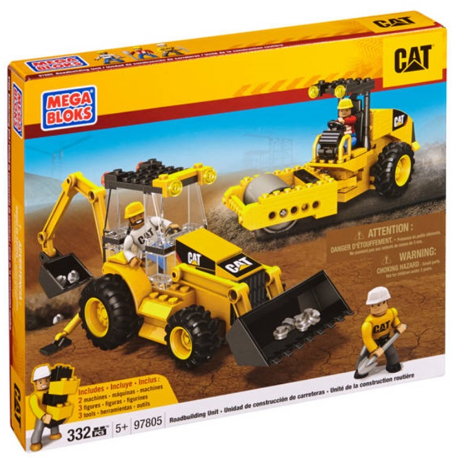 Cat Mega Bloks CAT - Road Building Unit officially licensed Cat Mega Bloks product at B.A. Toys.