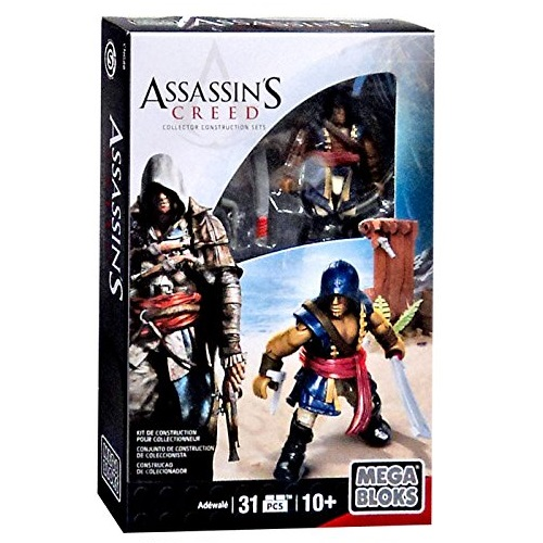 2015 Mega Bloks Assassin's Creed Adewale Mini Figure micro action figure pack with accessories