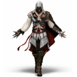 Assassin's Creed holds arms out welcoming his new Mega Bloks Set Reviews and Fans.