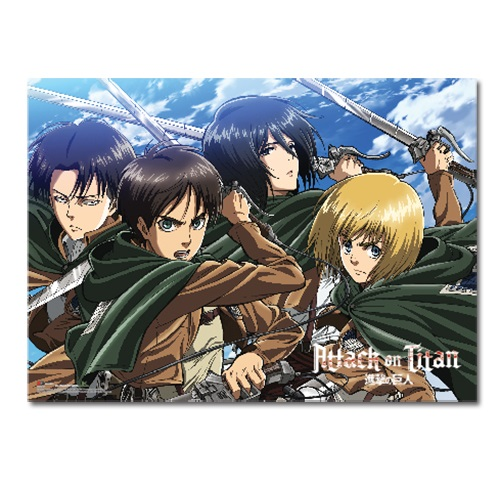 Attack on Titan Wall Scroll example.