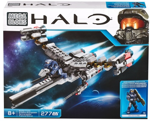 Halo Wars Mega Bloks Box Set EVA Booster Frame with UNSC Fred.