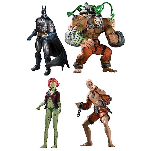DC Batman Arkham Asylum Series 2 Action Figures Set of 4 with BANE is an officially licensed, authentic DC Batman Arkham Asylum product at B.A. Toys featuring Series 2 Action Figures Set of 4 with BANE by DC Batman Arkham Asylum