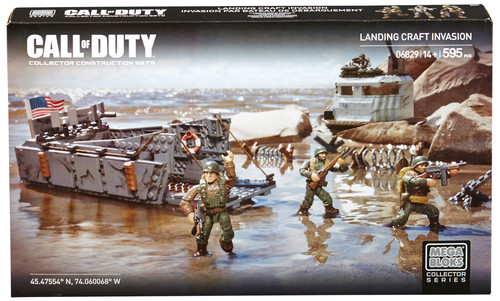 Mega Bloks Call of Duty Landing Craft Invasion is an officially licensed, authentic Mega Bloks Call of Duty product at B.A. Toys featuring Landing Craft Invasion by Mega Bloks Call of Duty