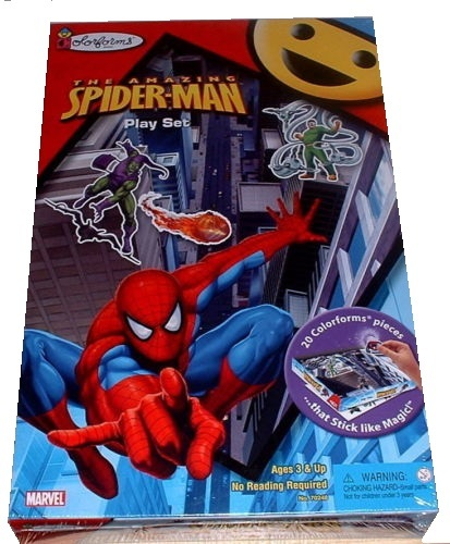Colorforms Amazing Spiderman Playset officially licensed Colorforms product at B.A. Toys.