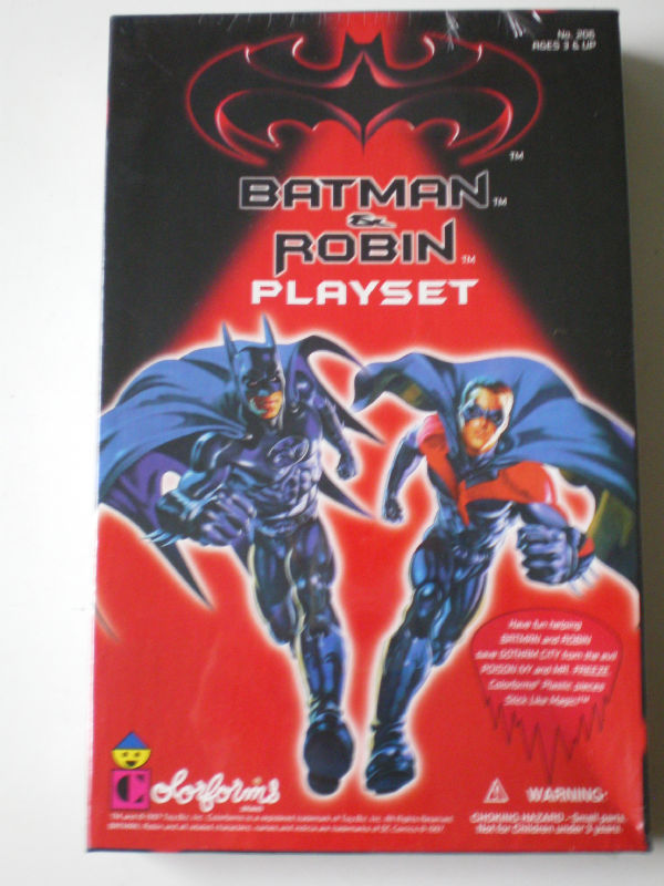 Colorforms Original Batman and Robin Playset officially licensed Colorforms product at B.A. Toys.