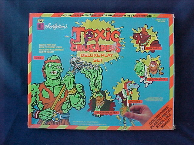 Colorforms Toxic Crusaders Deluxe Playset officially licensed Colorforms product at B.A. Toys.