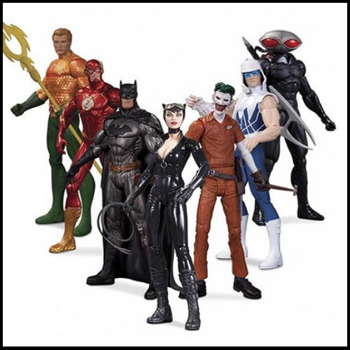 Justice League New 52 Heroes Vs. Super Villains Action Figure Box Set officially licensed Justice League product at B.A. Toys.