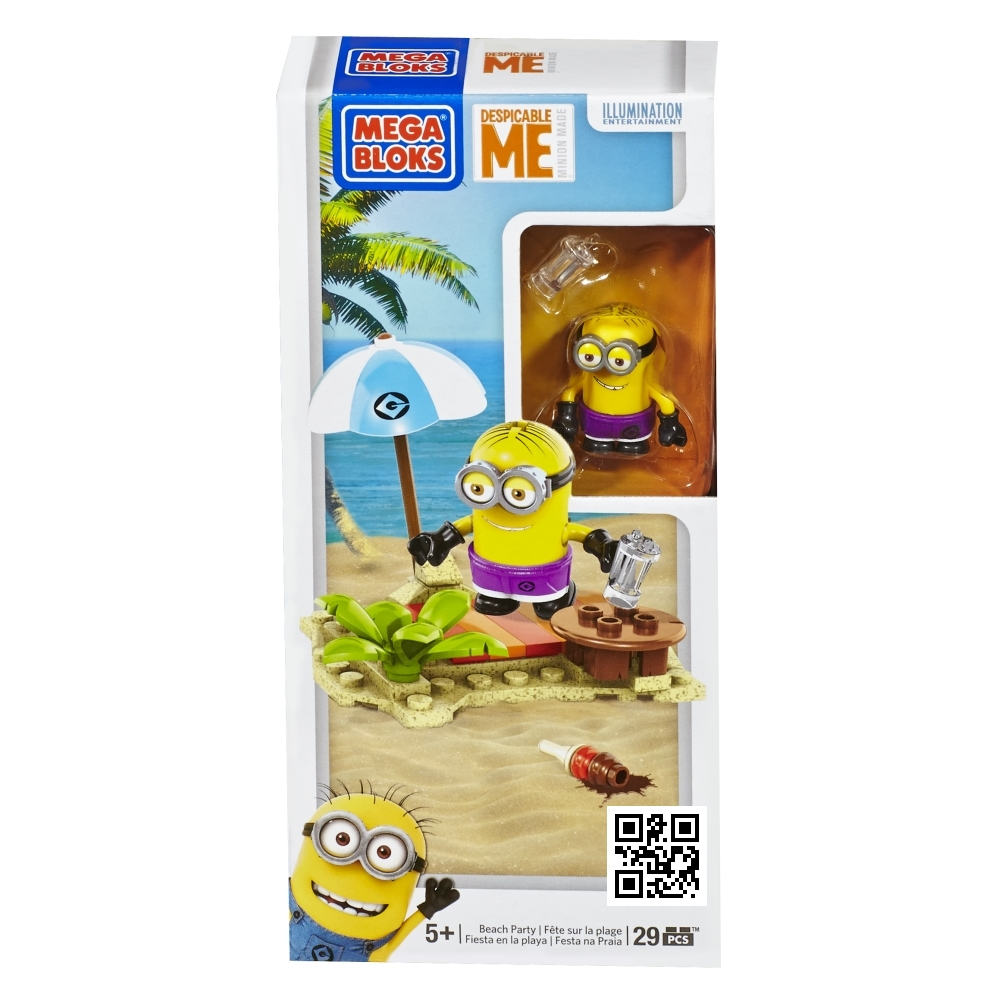 Mega Bloks Despicable ME <b>Beach Party [Blanket, Umbrella & Ice Cream]</b> officially licensed Mega Bloks Despicable ME product at B.A. Toys.