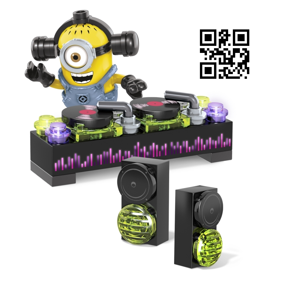 Mega Bloks Despicable ME <b>Dance Party [DJ, Table & Headphones]</b> officially licensed Mega Bloks Despicable ME product at B.A. Toys.