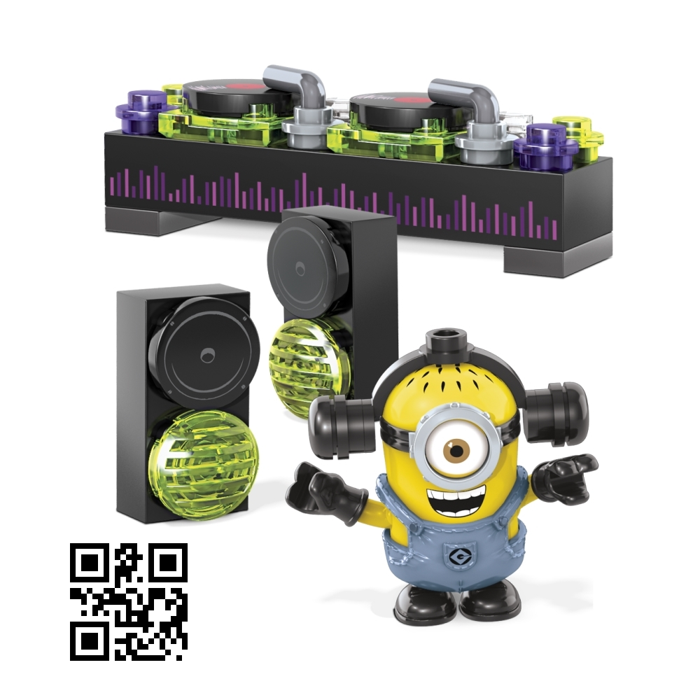 Dance Party [DJ, Table & Headphones]. Mega Bloks Despicable ME Dance Party [DJ, Table & Headphones] is a building block toy set officially licensed by Despicable Me. Lego compatible!, Despicable Me Mega Bloks Set Dance Party [DJ, Table & Headphones], Dance Party [DJ, Table & Headphones], Despicable Me, Despicable Me Mega Bloks, Mega Bloks Despicable ME, buildling block toys, Despicable Me Lego