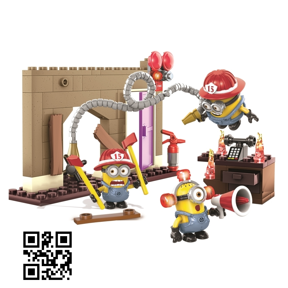 Mega Bloks Despicable ME <b>Fire Rescue [Hats, Megaphone & Extinguisher]</b> officially licensed Mega Bloks Despicable ME product at B.A. Toys.