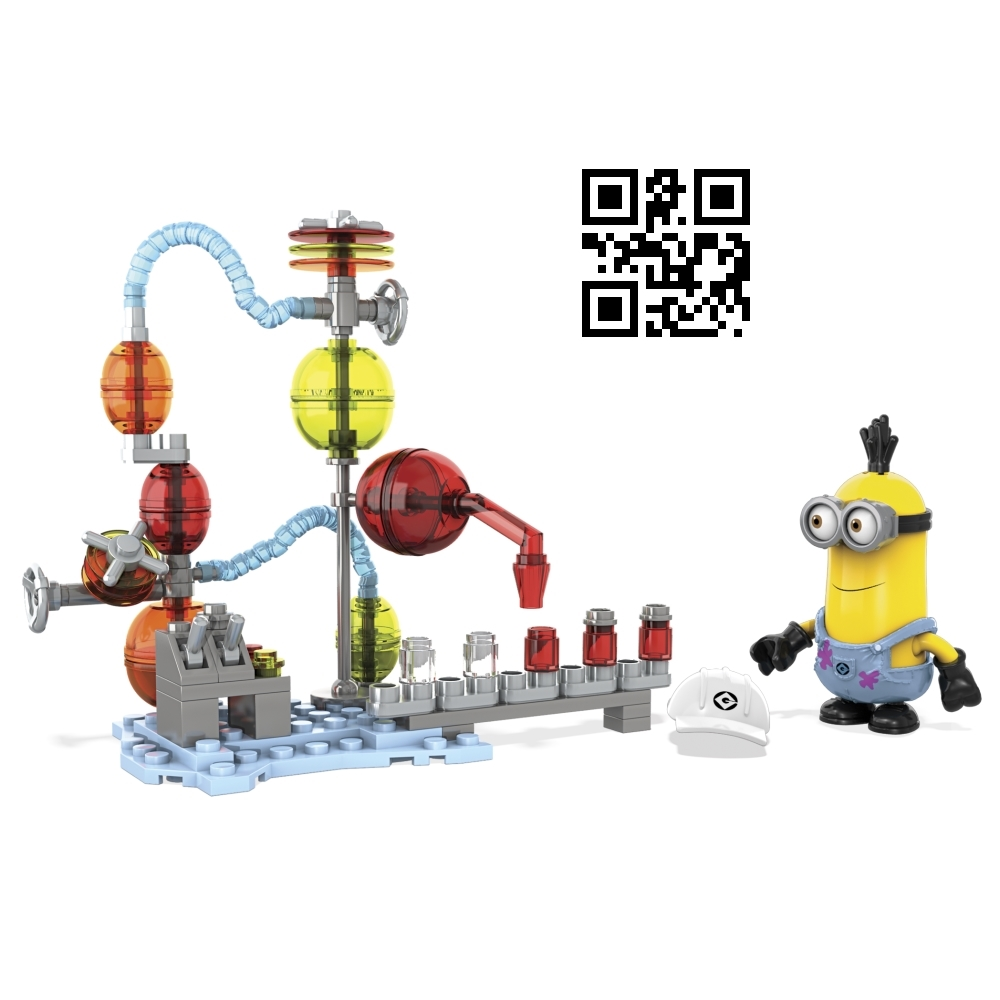 Jelly Lab [Jelly Stained Overalls]. Mega Bloks Despicable ME Jelly Lab [Jelly Stained Overalls] is a building block toy set officially licensed by Despicable Me. Lego compatible!, Despicable Me Mega Bloks Set Jelly Lab [Jelly Stained Overalls], Jelly Lab [Jelly Stained Overalls], Despicable Me, Despicable Me Mega Bloks, Mega Bloks Despicable ME, buildling block toys, Despicable Me Lego