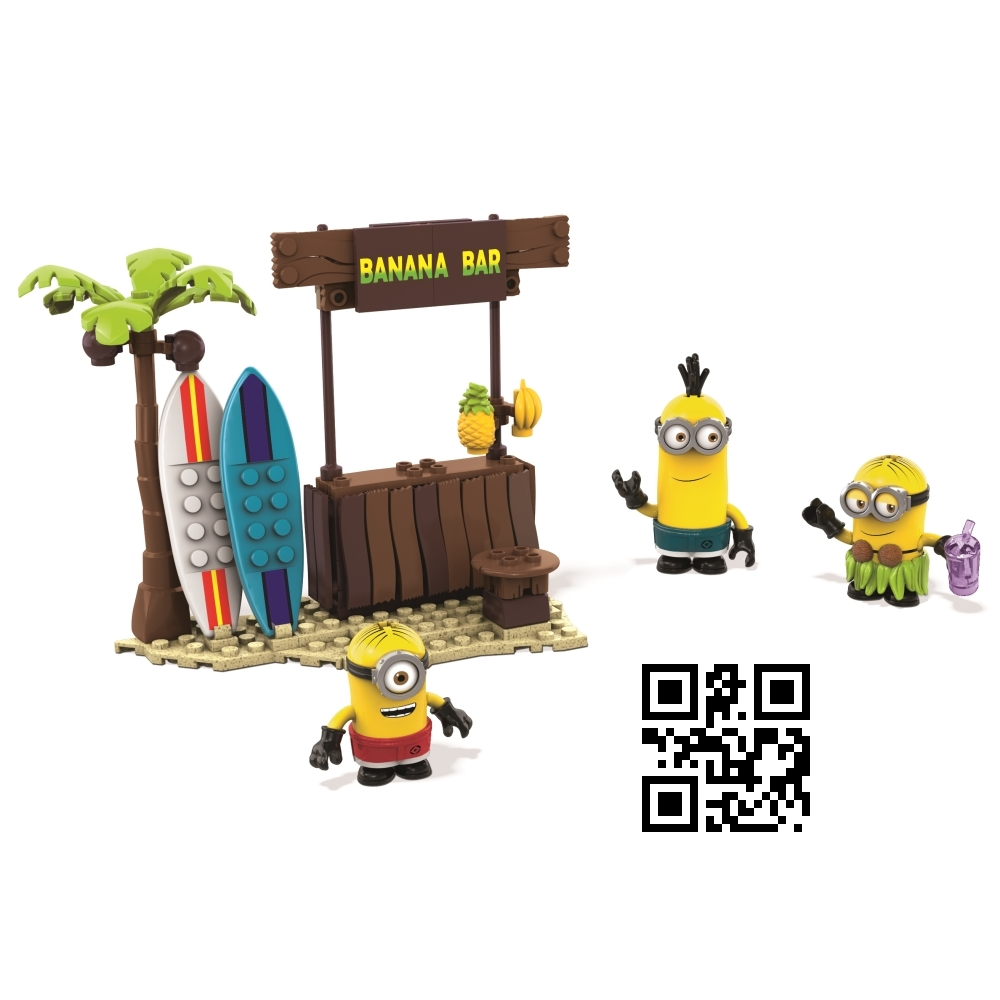 Beach Day [Surf's Up! Board, Shorts & Hula Skirt]. Mega Bloks Despicable ME Beach Day [Surf's Up! Board, Shorts & Hula Skirt] is a building block toy set officially licensed by Despicable Me. Lego compatible!, Despicable Me Mega Bloks Set Beach Day [Surf's Up! Board, Shorts & Hula Skirt], Beach Day [Surf's Up! Board, Shorts & Hula Skirt], Despicable Me, Despicable Me Mega Bloks, Mega Bloks Despicable ME, buildling block toys, Despicable Me Lego