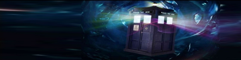 Doctor Who Police Box Phone Booth Tardis emanating pschadelic lights while traveling through space and time.