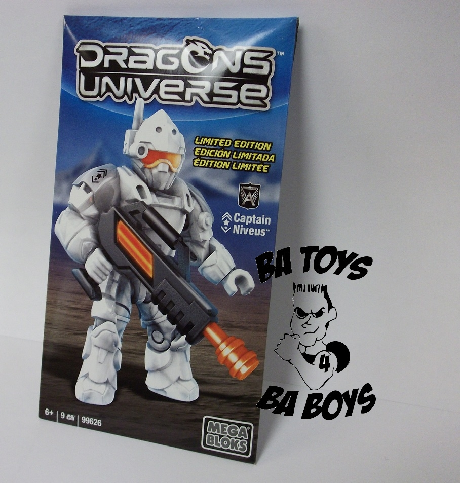 Dragons Universe Mega Bloks Limited Edition Minifigure Captain Niveus is an officially licensed, authentic Dragons Universe Mega Bloks product at B.A. Toys featuring Limited Edition Minifigure Captain Niveus by Dragons Universe Mega Bloks