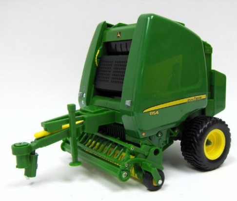 ERTL John Deere Big Farm JD 854 Round Baler with Bales 1:16 Scale officially licensed ERTL John Deere Big Farm product at B.A. Toys.