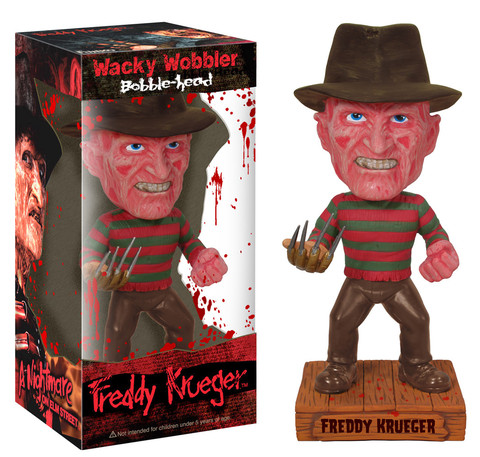Nightmare on Elm Street Freddy Krueger WW Funko Horror Movie Wacky Wobler officially licensed Nightmare on Elm Street product at B.A. Toys.