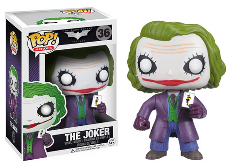 Batman Dark Knight Joker Funko Pop! Heroes Vinyl Figure officially licensed Batman product at B.A. Toys.