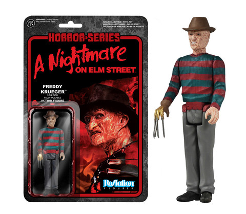 Nightmare on Elm Street Freddy Krueger Funko ReAction Retro Action Figure officially licensed Nightmare on Elm Street product at B.A. Toys.