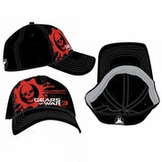Gears of War 3 Blood Omen Logo Baseball Hat officially licensed Gears of War 3 product at B.A. Toys.