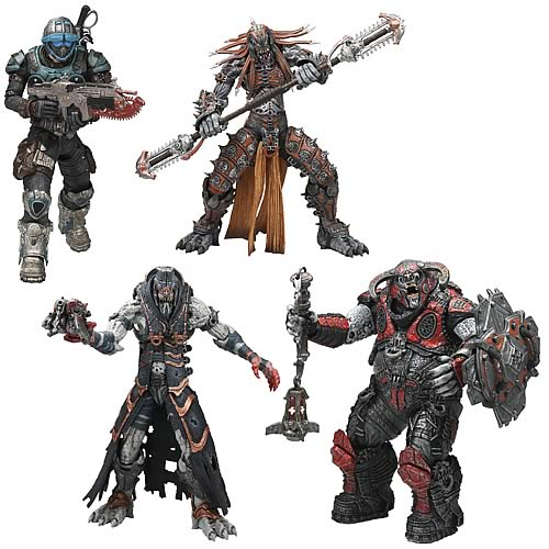 Gears of War Series 6 Action Figure Set of 4 officially licensed Gears of War product at B.A. Toys.
