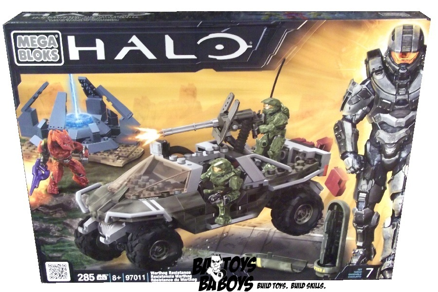 Halo Mega Bloks Warthog Resistance officially licensed Halo Mega Bloks product at B.A. Toys.
