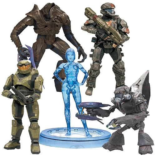 McFarlane Halo Anniversary 5 Action Figure Set officially licensed McFarlane product at B.A. Toys.