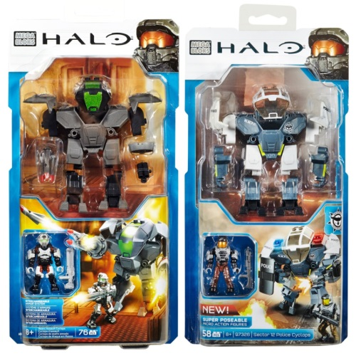 Halo Wars Mega Bloks Box Heavy Cyclops and Sector 12 Police Cyclops.