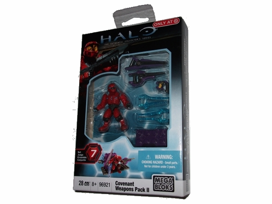 Halo Mega Bloks Covenant Weapons Pack II officially licensed Halo Mega Bloks product at B.A. Toys.