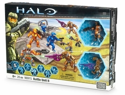 Halo Mega Bloks Battle Unit II [8 Figures & Weapons] officially licensed Halo Mega Bloks product at B.A. Toys.