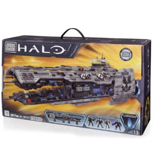 Forward Unto Dawn officially licensed Halo Mega Bloks product at B.A. Toys.